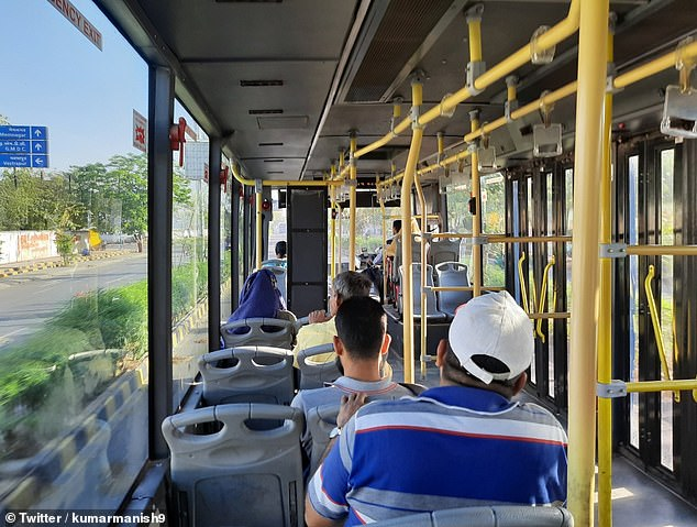 In India, Kumar Manish shared a picture of a half-empty bus, saying he took it before lockdown came into force