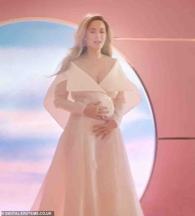 Never Worn White: Katy used the clip of her song Never Worn White to reveal the news of her pregnancy to the world in March