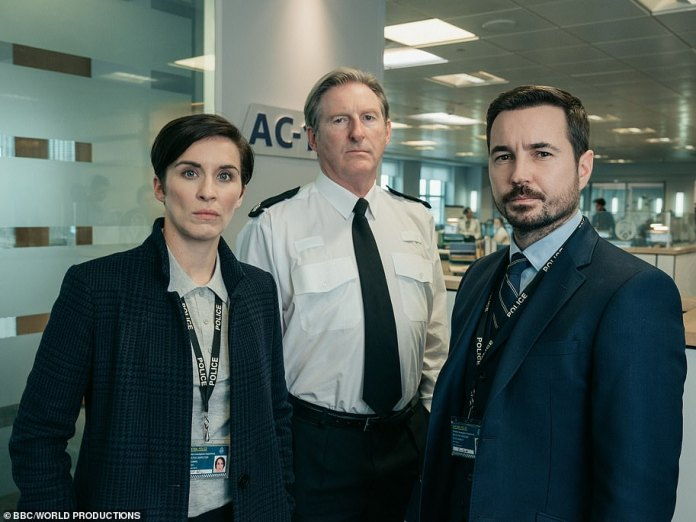 Let's go back: Line Of Duty sees Adrian Dunbar, Vicky McClure and Martin Compston (L-R) at the head of the British police drama