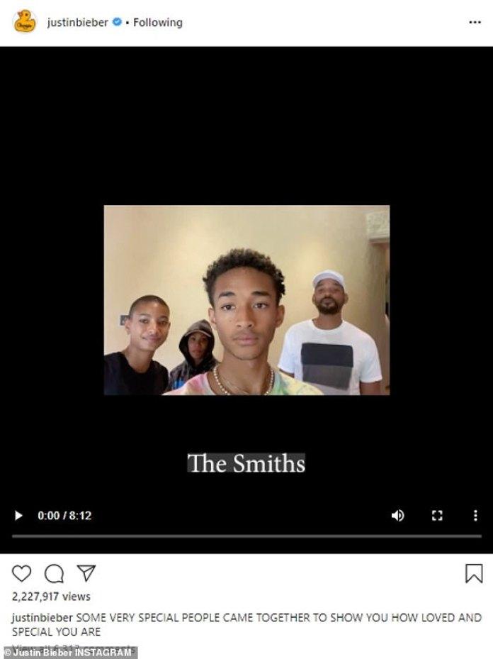 Comenzando: la familia Smith fue la primera en desearle a Jaz en el video de 8 minutos