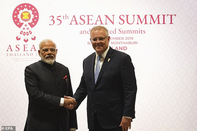 Prime Minister Scott Morrison and Indian Prime Minister Narendra Modi (pictured together in 2018) are on the verge of signing a landmark trade deal