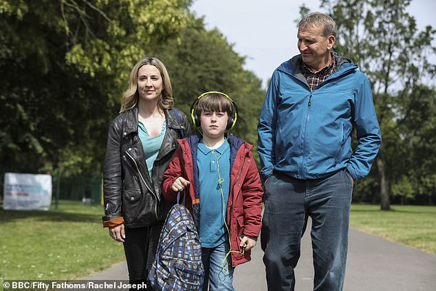 Premise: The A Word follows the Hughes family as they reconcile with the diagnosis of autism for their youngest child, Joe's. It takes place in the Lake District (photo with co-stars Max Vento and Morven Christie on show)