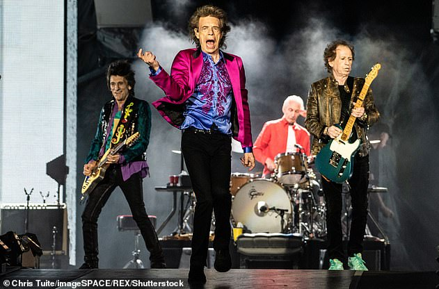 Pals:Somebody Up There Likes Me will also see appearances from his Rolling Stones bandmates Mick Jagger, Keith Richards and Charlie Watts (pictured in August 2019)