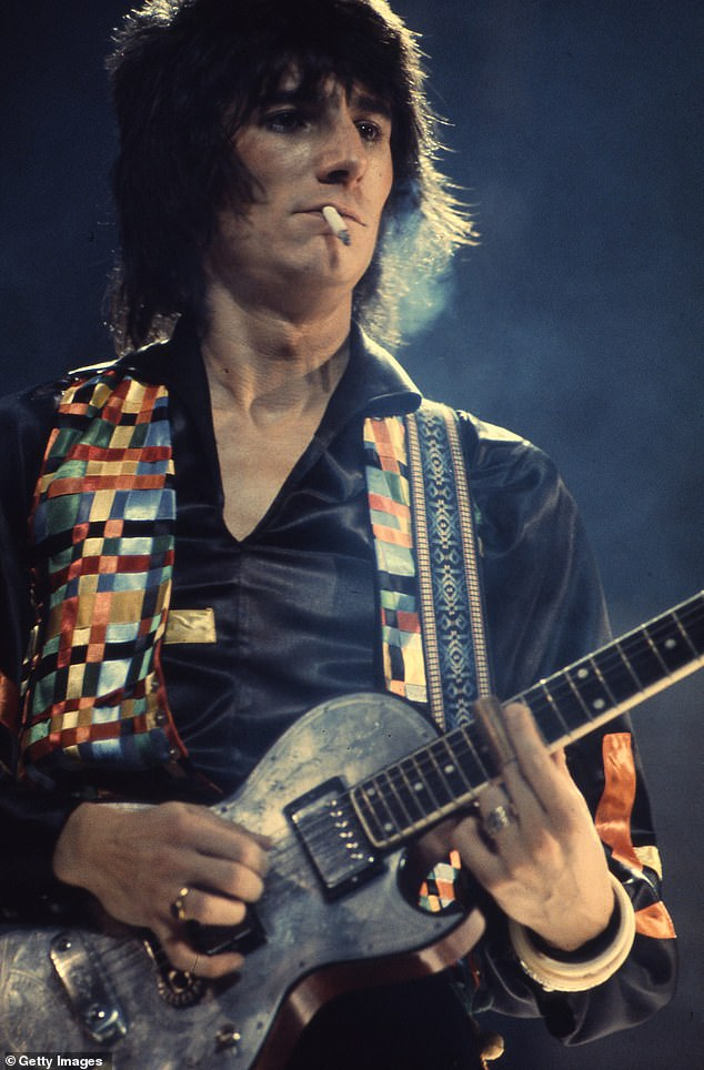Scary:The Rolling Stones legend also discussed beating lung cancer in 2017 after 54 years of smoking 25 to 30 cigarettes a day and claimed it was a 'get out of jail free card' (pictured in 1972)