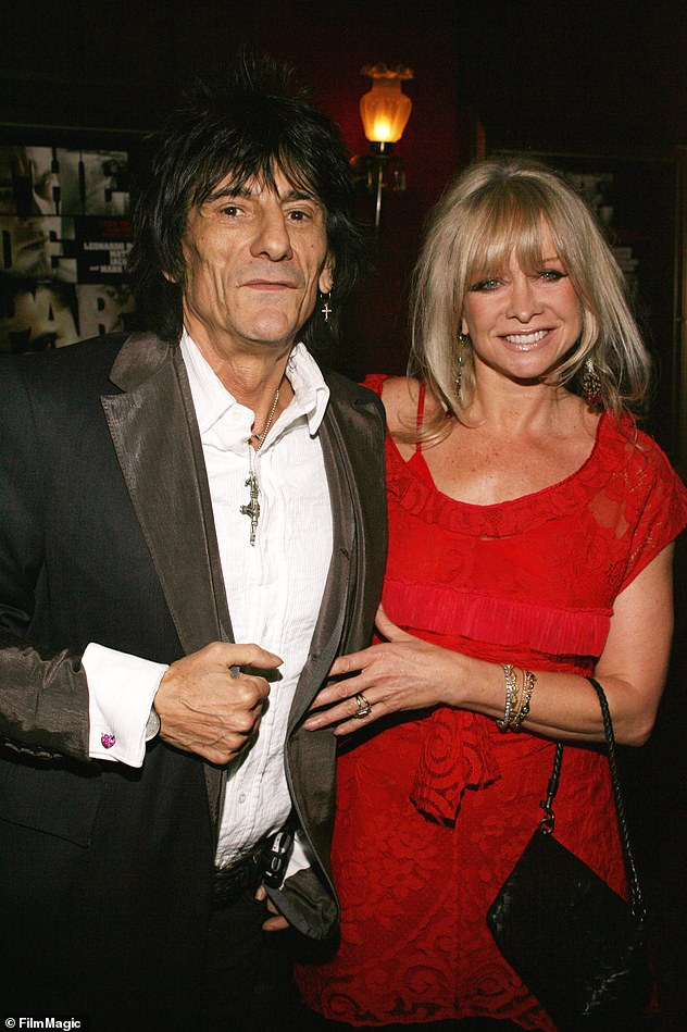 A case of the ex:Ronnie was married to former model Jo for 26-years before their separation and subsequent divorce in 2011 (pictured in happier times)