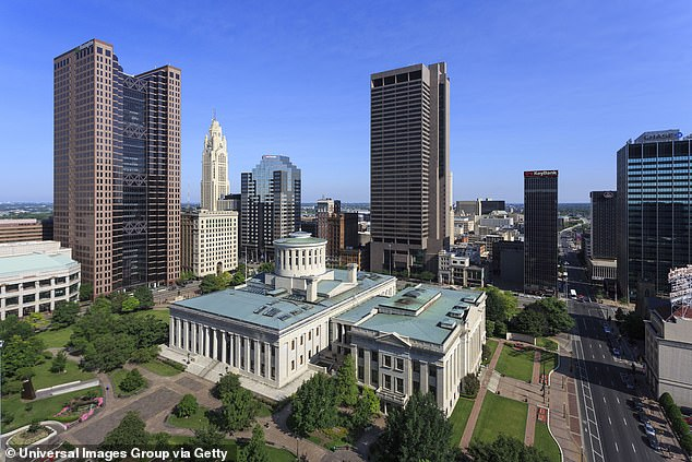 The resolution was a part of the 2019 Rise Together Blueprint effort to address poverty in Central Ohio that was first announced last year, well before the coronavirus struck. An aerial view of Columbus' capitol building, located in Franklin County, above