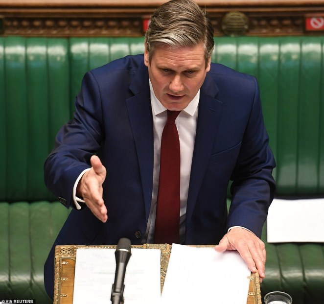 Labour leader Sir Keir Starmer urged the PM to drop the fee, but his advances were stonewalled