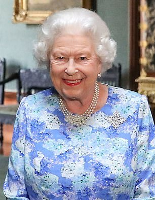The royal wearing the Sapphire Jubilee Brooch