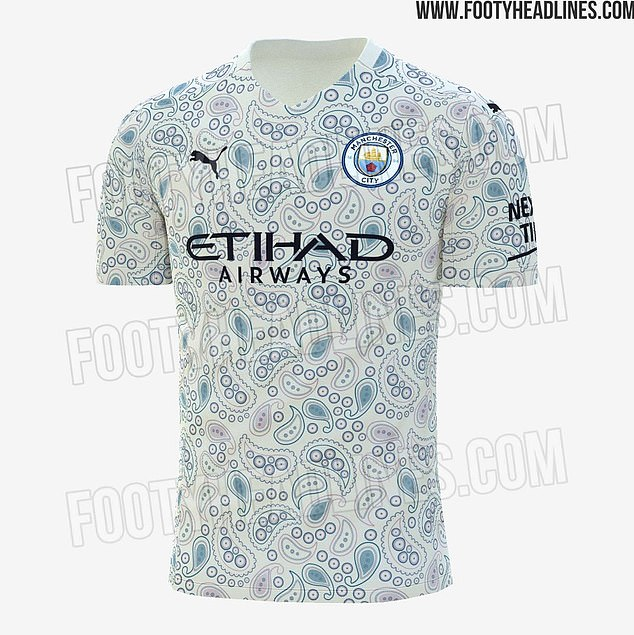 Manchester City's supposed third kit for the 2020-21 campaign has been leaked on Twitter
