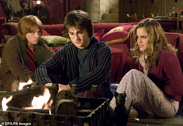 Career: Rupert is best known for his role as Ron Wealey in the Harry Potter film series (pictured with Daniel Radcliffe and Emma Watson)