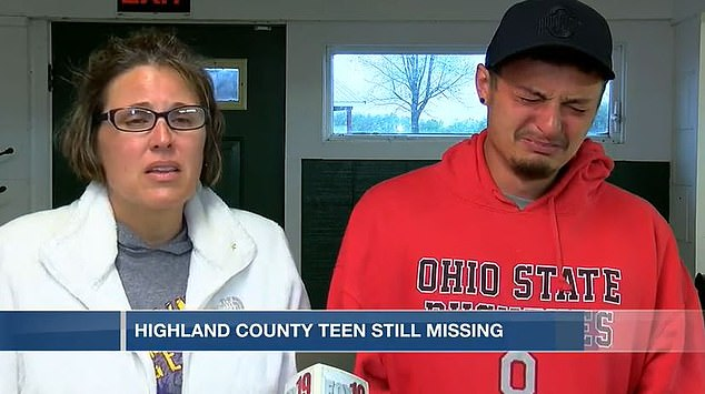 Madison's mother, Melissa Bell (left), and her boyfriend, Cody Mann (right), drove to the church and found her car unlocked, with her phone inside