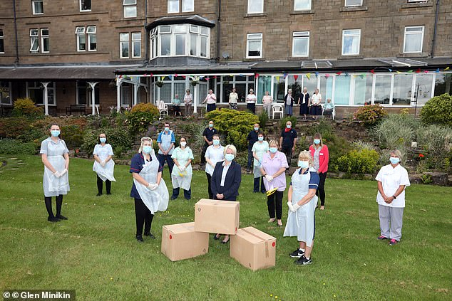 Mail Force charity, set up by Daily Mail and General Trust plc, delivers PPE to Presentation Sisters Care Home in Matlock, Derbyshire