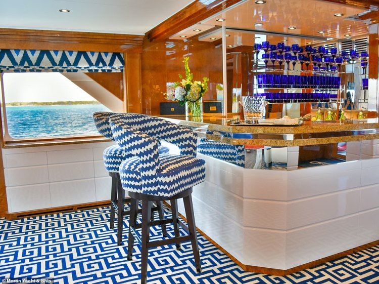 Octopussy now has five spacious staterooms, a vast main salon and a formal dining area with floor-to-ceiling glass doors, which open out on to the main deck