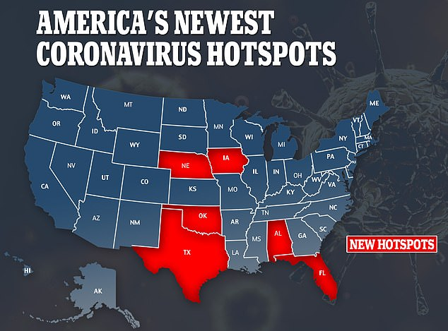 A new model from PolicyLab predicts that as southern and Midwest states loosen restrictions, their daily new cases will rise over the next four weeks making them the new US coroanvirus hotpsots