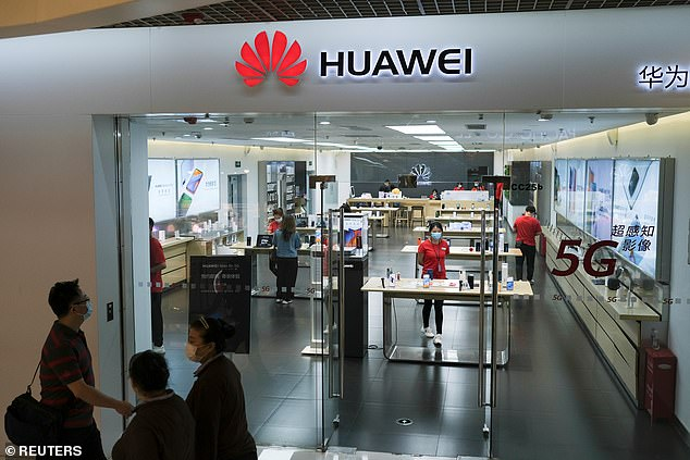 Tory MPs have urged caution over the 'rushed' Huawei deal which was brokered under Theresa May's administration but signed off by Mr Johnson in January (stock image)