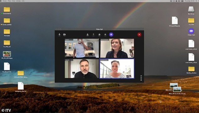 Famous Faces: The campaign, which aired on television Monday evening, features celebrities participating in a video call