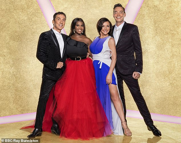 Never done before: Bosses have reportedly put a contingency plan in place (judges Bruno Tonioli, Motsi Mabuse, Shirley Ballas and Craig Revel Horwood pictured)