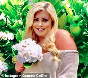Gorgeous: Gemma Collins looked unrecognizable as she shared a radiant snapshot on Instagram on Sunday