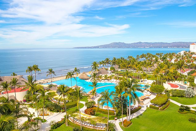 Daisy said the art therapy session made her cry with laughter, but the retreat was blissful in the end. Pictured: Mexico retreat Grand Velas Riviera Nayarit