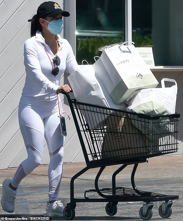 Wonderful in white: Eva Longoria was as elegant as ever when she was seen in Los Angeles this weekend.