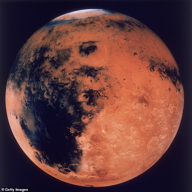 When a female astronaut first sets foot on the Moon in 2024, the historic moment will represent a step toward another NASA first: eventually putting humans on Mars (pictured)
