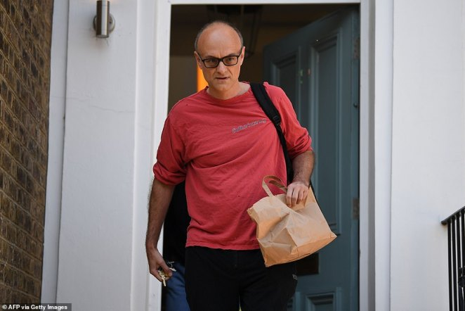 Mr Cummings (pictured today in London) has flatly denied any second trip north in April, when none of his family were ill