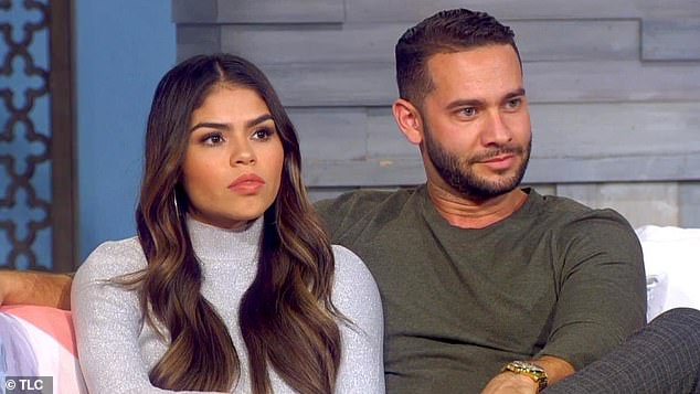 Split: Her quest for true love ended explosively when she filed for divorce from her ex Jonathan Rivera, 32, in January of last year; Fernanda and Jonathan photographed on 90 Day Fiance