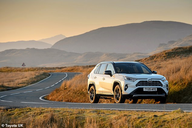 The Toyota RAV4 Hybrid is an ideal long-distance SUV that combines gasoline and electricity and is much more fuel efficient than Mr. Cummings' Land Rover diesel.