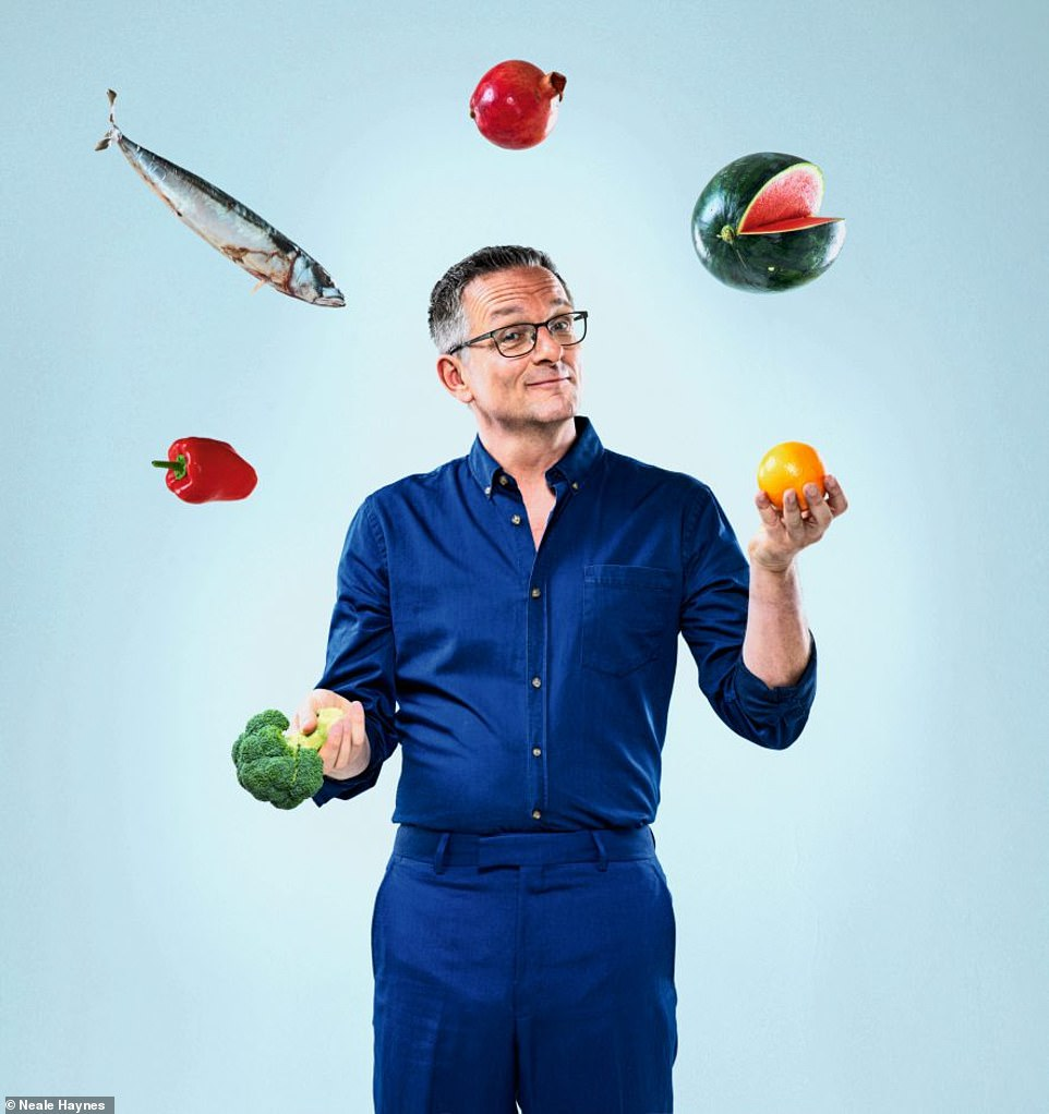 Dr Michael (pictured) claims a Mediterranean diet can still bolster your immune defences - even if you don't have excess weight to lose