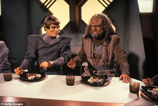 Scifi fun:Herd's Star Trek shows were Star Trek: The Next Generation, Star Trek: Voyager, and Star Trek: Renegades. Here he is seen right as L'Kor on Next Generation