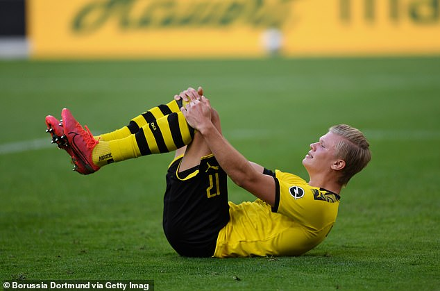 Haaland's day ended miserably when he limped with an injury in the second half