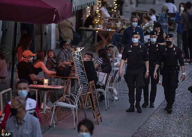 Bars and restaurants have been reopened in Italy as the country sees a sustained fall in its coronavirus cases and death toll figures