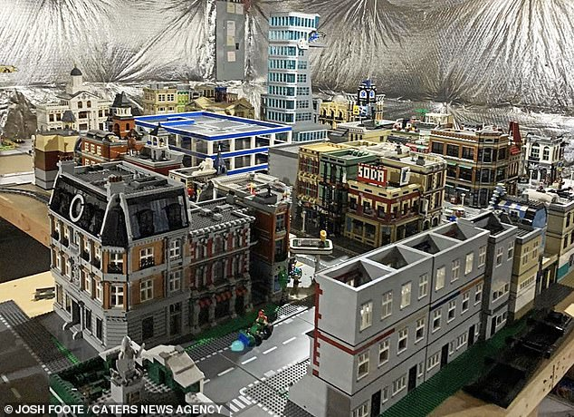 From starting with just the Lego streets, he was able to build up the entire city
