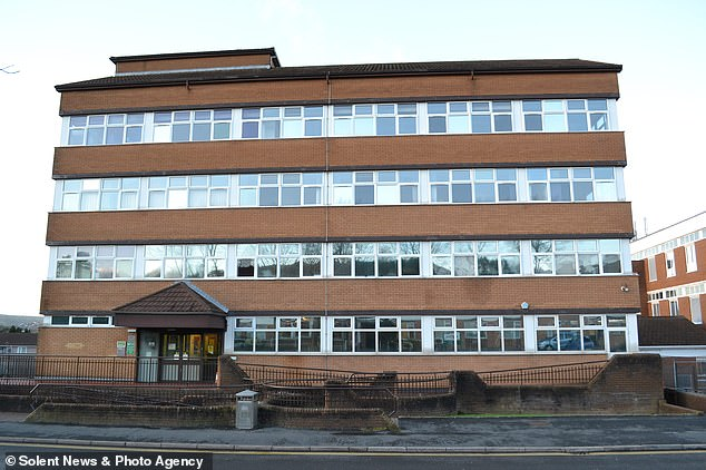 During her time at the DWP office in Caerphilly, pictured, the 59-year-old, a qualified solicitor, was the only non-white recruit and the only trainee over the age of 50 in her team