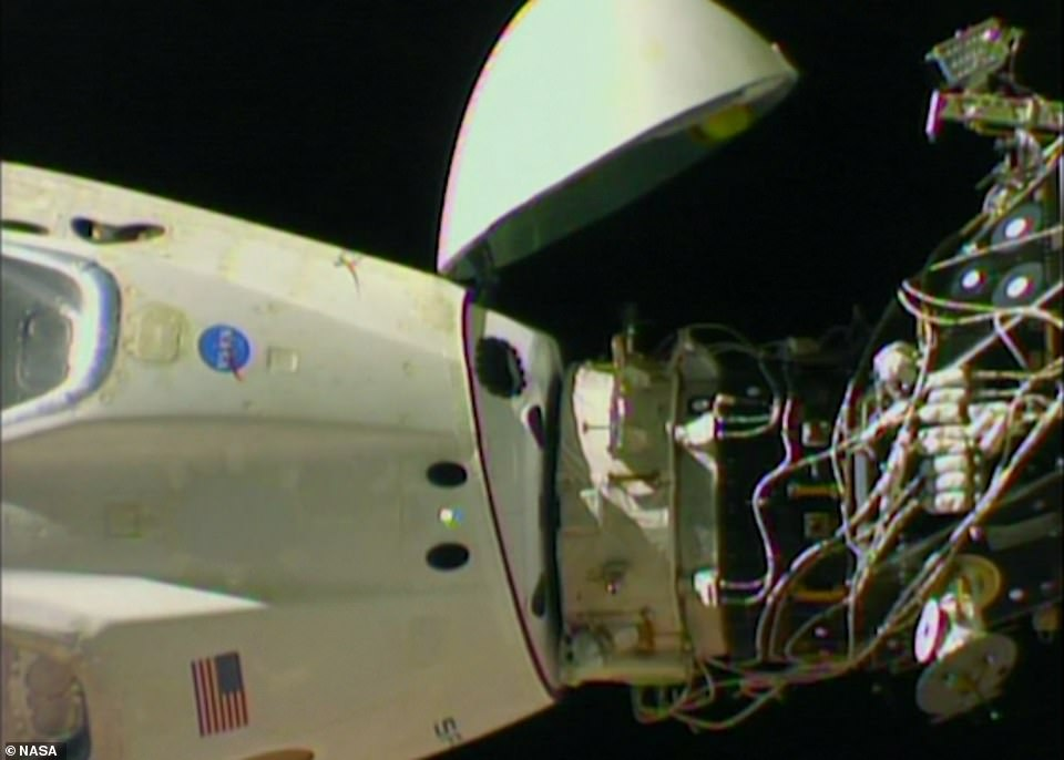 SpaceX's swanky new crew capsule undocking from the ISS last year and embarking on a hypersonic splashdown to Earth