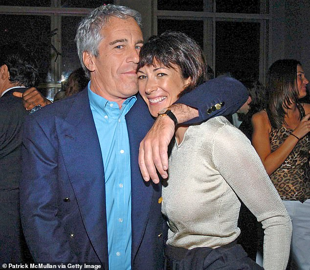 Epstein took his alleged Madame Ghislaine Maxwell (pictured together in 2005) to the White House for a donor reception with the Clintons
