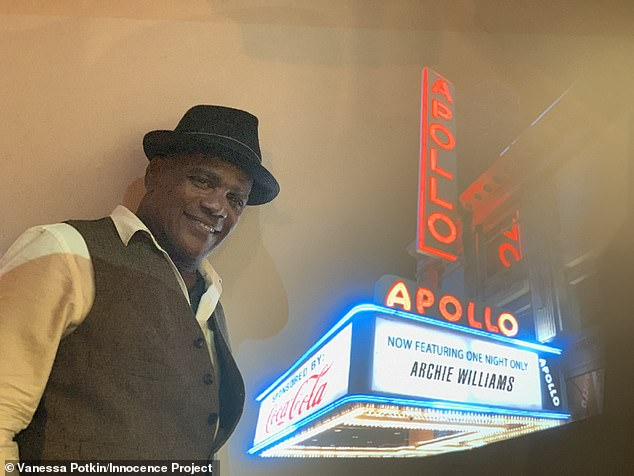 Success: in November, he sang at the Apollo Theater in Harlem, taking third place in the weekly Amateur Night theater competition