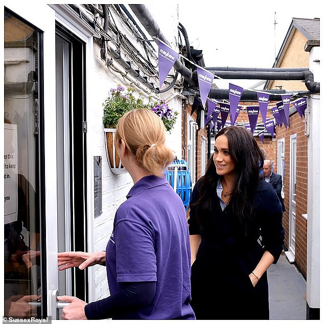 The Duchess last visited the London based charity in January, shortly before news emerged she and Prince Harry planned to stand-down from royal duty