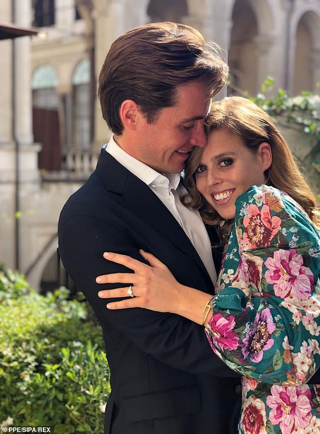Princess Beatrice and Edo said they couldn't wait to get married when they got engaged in September last year in Italy (pictured together)