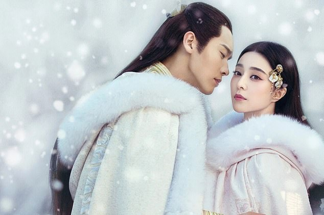 One of China's biggest superstars, Fan Bingbing (pictured right), involved in a tax evasion scandal of nearly £ 100 million two years ago, is set to return to the spotlight soon in drama successful broadcast online. The photo is a promotional poster for the show