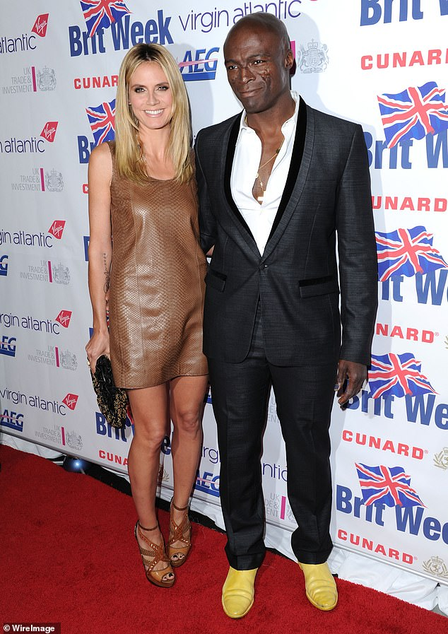 Former flame: Daughter Lou and his sons Johan and Henry have their roots in their seven-year marriage to British singer and songwriter Seal, 57; Heidi and Seal were described in 2011