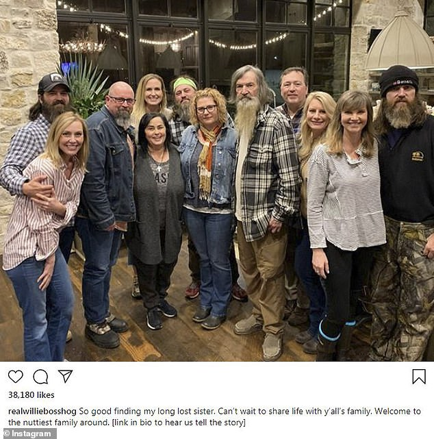 Growing family: Korie's husband Willie posted a larger family photo, with the caption