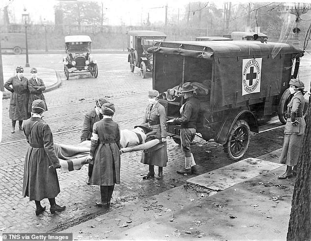 Some disease outbreaks – including the Spanish flu pandemic more than a century ago, pictured, and, more recently, swine flu – did have second waves. But others such as SARS and MERS have not