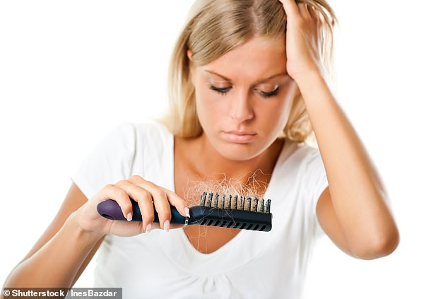 About half of women over 65 have inherited pattern baldness, but hair loss can also be triggered by a drop in oestrogen levels after the menopause