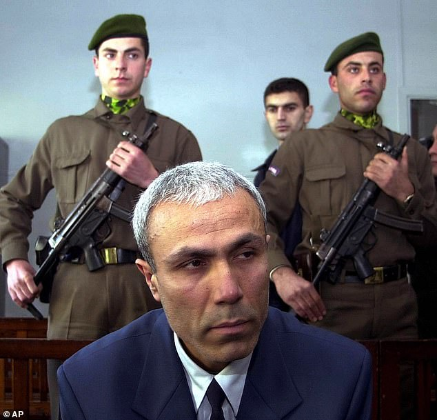 The attack was carried out by gunman Mehmet Ali Agca (pictured), with the Turkcaught and later confessing to the crime