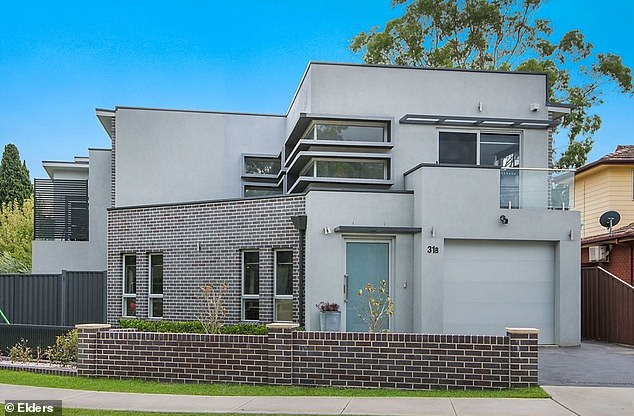 Construction of new homes has plummeted during the coronavirus pandemic along with most other economic activity and is feared to be slow to revive. Pictured is a new build house at Toongabbie in Sydney's west