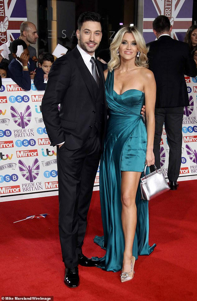 The old files: American singer Ashley was in love with professional dancer Giovanni Pernice for 14 months after meeting the couple on Strictly Come Dancing (photo in October)