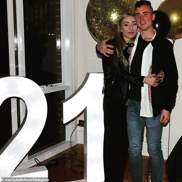 Macayla Dickson (pictured left) said close friend Liam Cahill (right) was like the 'class clown' and would make everybody laugh