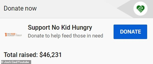 And counting! Josh's reunion garnered over 111K views and has already raised over $47K for the nonprofit charity Share Our Strength's No Kid Hungry campaign
