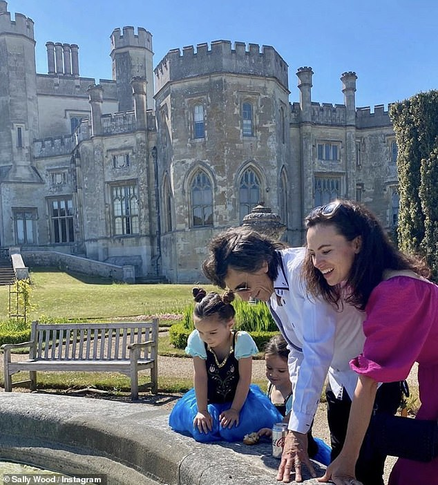 Family outing: The twins also enjoyed a family day-trip to Ashridge House with their parents